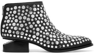 Alexander Wang - Kori Cutout Studded Leather Ankle Boots - Black $695 thestylecure.com