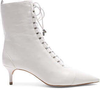a08f6baef4 Alexandre Birman Leather Millen Lace Up Ankle Boots in White | FWRD