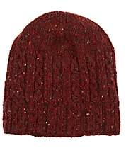 Inis Meain Men's Cable-Knit Merino Wool-Cashmere Hat - Red