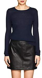 Barneys New York WOMEN'S SILK-CASHMERE CREWNECK SWEATER - NAVY SIZE S