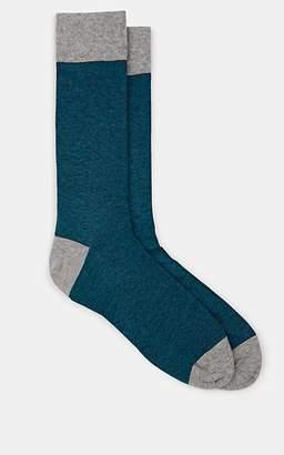 Corgi Men's Striped Cotton-Blend Mid-Calf Socks