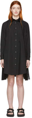 Sacai Black Poplin Zip Dress