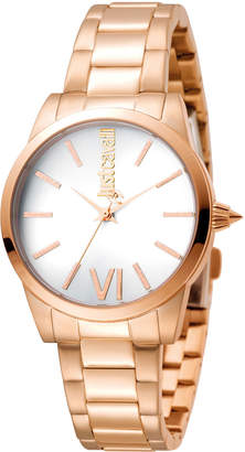 Just Cavalli 32mm Relaxed Bracelet Watch, Rose Golden