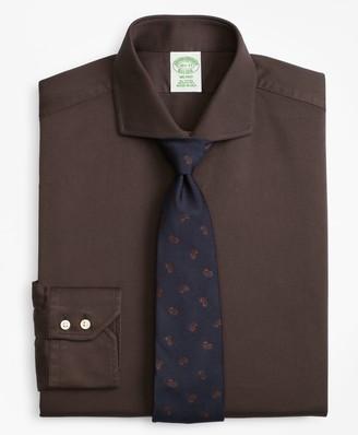 Brooks Brothers Milano Slim-Fit Dress Shirt, Textured Micro-Check
