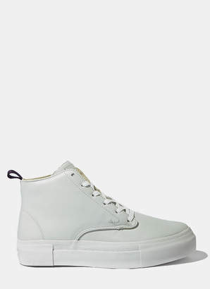 Eytys Unisex Odyssey High-Top Leather Sneaker in White
