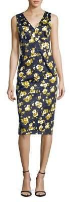 Max Mara Floral Sleeveless Sheath Dress