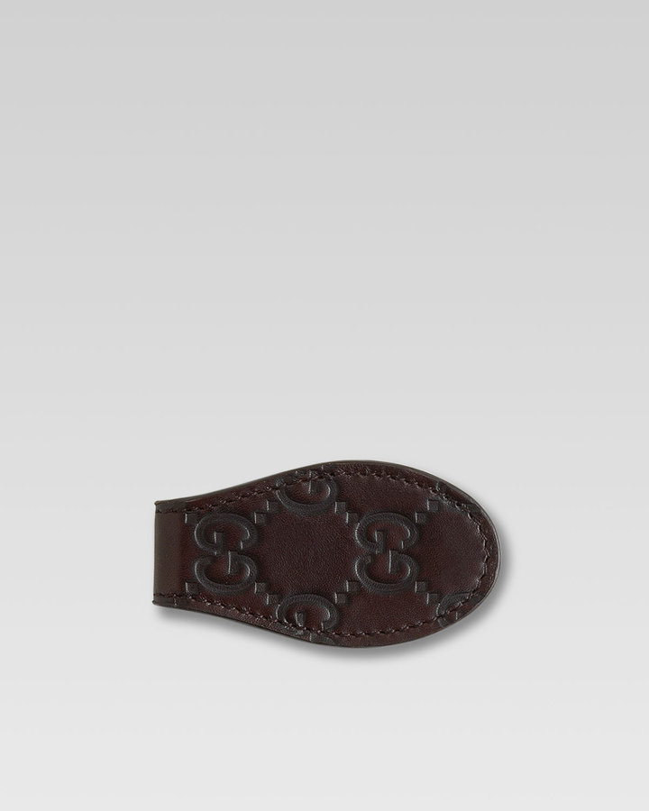 Gucci Leather Money Clip