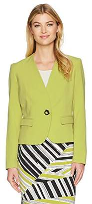 Nine West Women's BI Stretch 1 Button Jacket