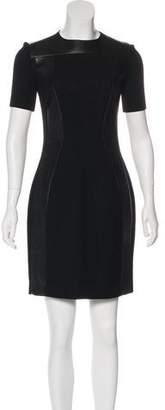 Martin Grant Wool & Leather-Blend Mini Dress