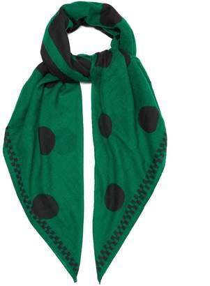 COLVILLE Hey Colville polka-dot wool scarf