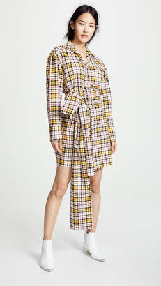 MSGM Plaid Shirt Dress