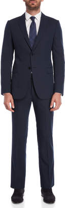 Armani Collezioni Two-Piece Navy Herringbone Suit