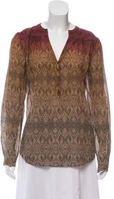 Diane von Furstenberg Silk-Blend Tunic Top