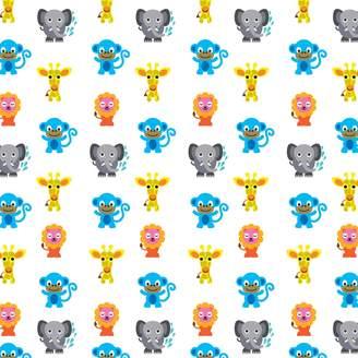 Wall Candy Arts WallCandy Arts French Bull Jungle Party Wallpaper