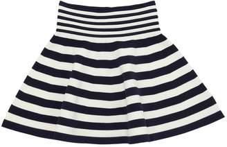 Milly Minis Striped Viscose Blend Knit Ottoman Skirt