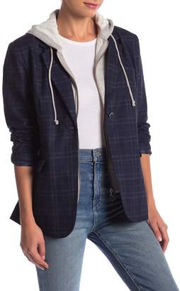 Romeo & Juliet Couture Plaid Hooded Jacket