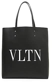 Saint Laurent Valentino Garavani Men's VLTN Leather Tote Bag