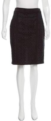 Andrew Gn Eyelet Pencil Skirt
