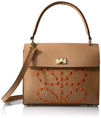 a9fc6229539f Orla Kiely Laced Stem Leather Cicely Bag