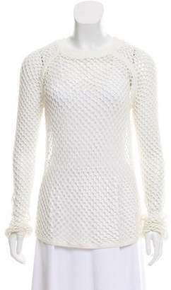 Tess Giberson Long Sleeve Open Knit Top