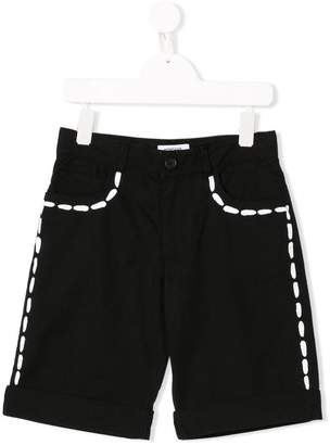 Moschino Kids TEEN contrast fitted shorts