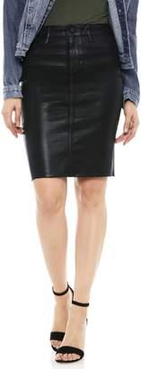 Sam Edelman Riley Coated Denim Skirt
