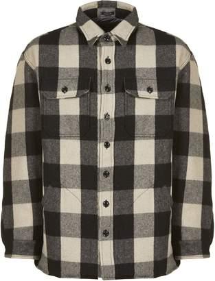 R 13 Oversized Check Coat