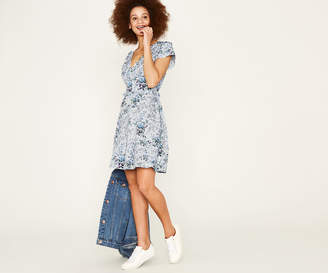 Oasis DITSY TIE FRONT DRESS