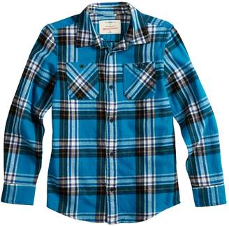 Boys 8-20 & Husky Urban Pipeline Button-Down Flannel Shirt