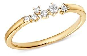 Adina 14K Yellow Gold Scattered Diamond Center Ring