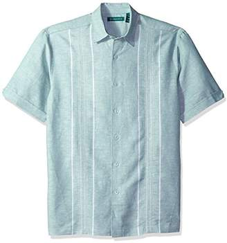 Cubavera Men's Big Tall Short-Sleeve Panel