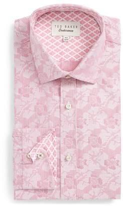 Ted Baker Orlov Trim Fit Floral Dress Shirt
