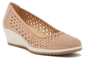 Naturalizer Brina Laser Cut Wedge Pump - Wide Width Available