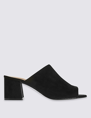 M&S Collection Block Heel Mule Shoes