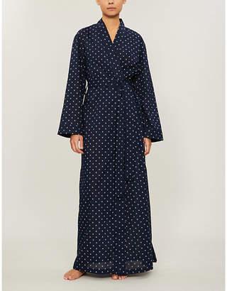 Derek Rose Nelson graphic-pattern cotton robe