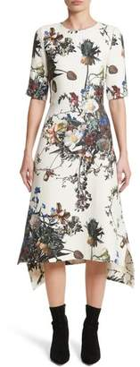 ADAM by Adam Lippes Floral Print Trapeze Dress