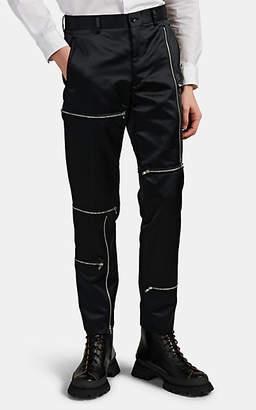 Comme des Garcons Men's Zip-Detailed Tech Satin Trousers - Black
