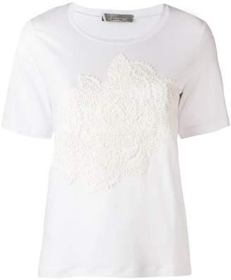 D-Exterior D.Exterior floral embroidered T-shirt