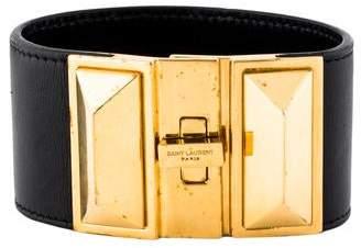 Saint Laurent Clous Punk Leather Bracelet