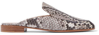 Gianvito Rossi Python Slippers - Snake print