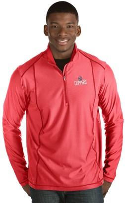 Antigua Men's Los Angeles Clippers Tempo Quarter-Zip Pullover