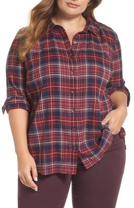 Caslon Plaid Tunic Shirt (Plus Size)