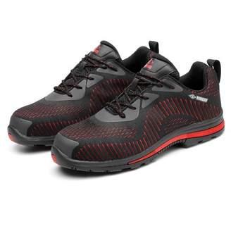 Meigar Women's Lightweight Safety Trainer Steel Toe Breath Work Boots Outdoor Sneaker Shoes