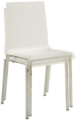 Janus et Cie Ecco Side Chair - Clear/Silver