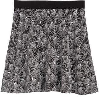 H&M Skater Skirt - Silver