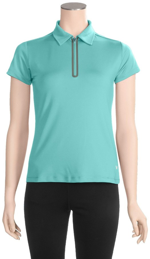 White Sierra Channel Island Polo Shirt - Zip Neck, Short Sleeve (For Women)