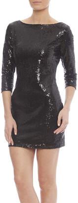 Glamorous Black Sequin Dress