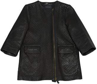 Trussardi Black Leather Jackets