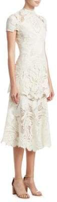 Jonathan Simkhai Crepe Applique Midi Dress