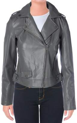 Lucky Brand Womens Faux Leather Bonded Motorcycle Jacket M
